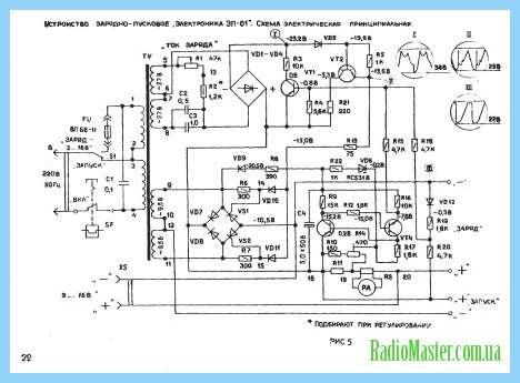 схема пуско зарядного устройства для автомобиля
