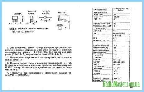схема пуско зарядного устройства электроника зп 01