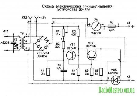 схема зарядного устройства интерскол 18 вольт