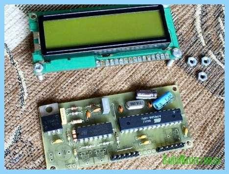 Схема анализатора спектра аудиосигнала на светодиодах.