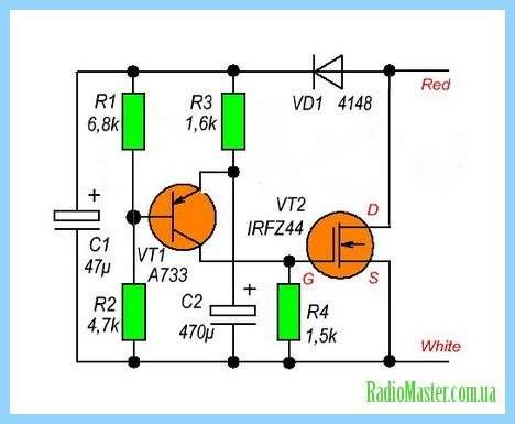 Реле времени на транзисторе В