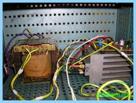 Электрическая схема автоматического зарядного устройства Кедр.