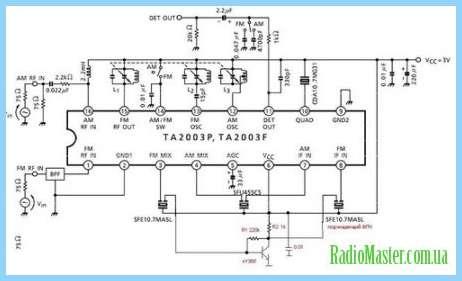 Вся схема Lc7265 схема тюнера