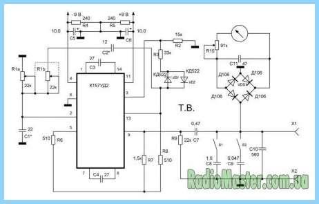 Самодельный прибор обнаружения межвиткового замыкания в асинхронных электродвигателях.