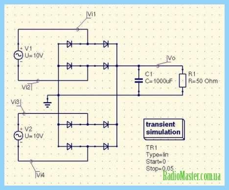 Схема управления тиристором Т 160 с помощью выключателя