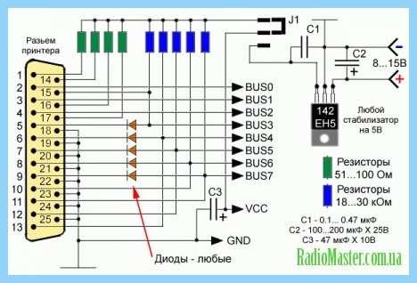 Схема программатора eeprom