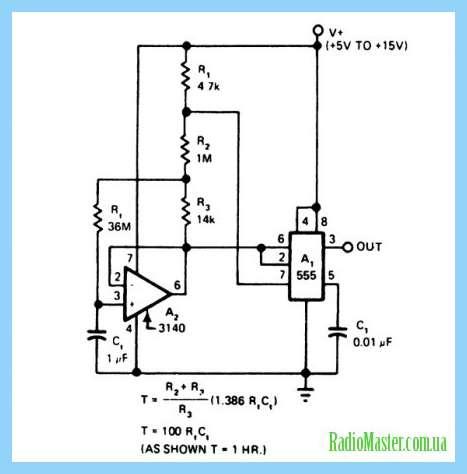 Циклическое реле времени на микроконтролере схема.