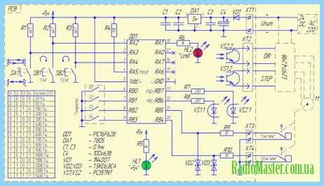 Схема контроллера step/dir