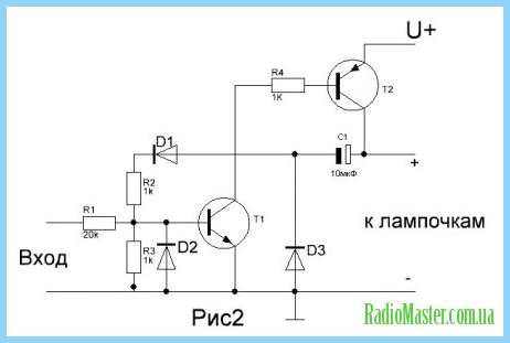 Цветомузыка на транзисторах кт315.