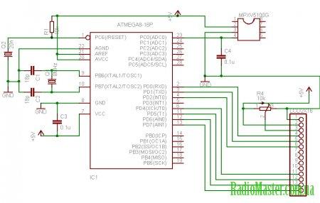 Датчик давления MPXV5100