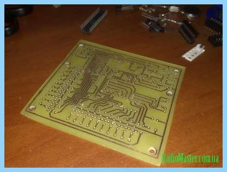 Схема анализатора спектра звука на светодиодах.
