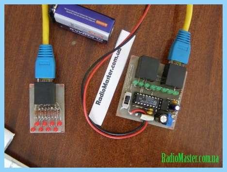 Схема кабельного тестера в