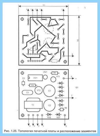 Схема звукового пробника для