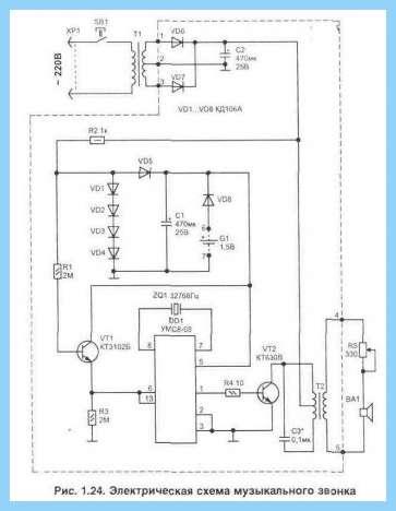 Схема звукового пробника