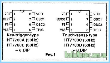 На Схема сенсорный выключатель