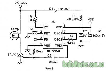 Схема: Семейство HT7700A/B/C/D