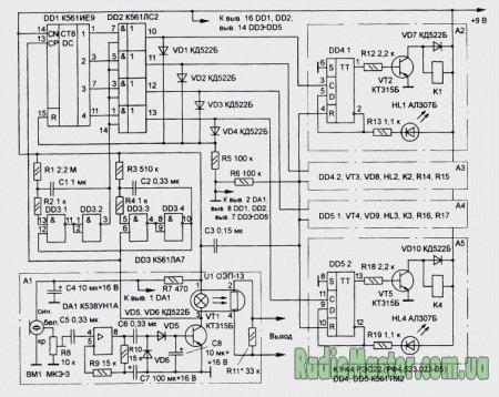Схема: Автомат, описанный в