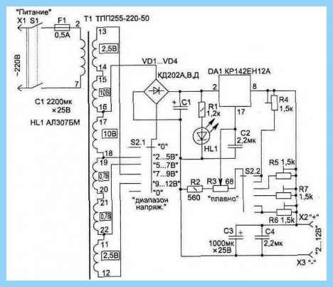 Кр1211 схема включения