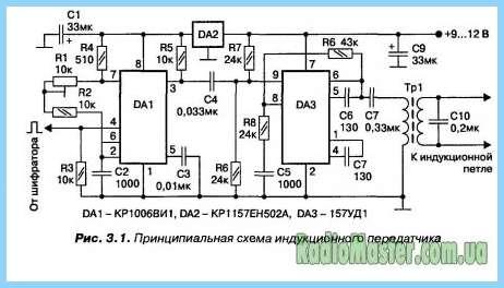 Схемы простых передатчика и
