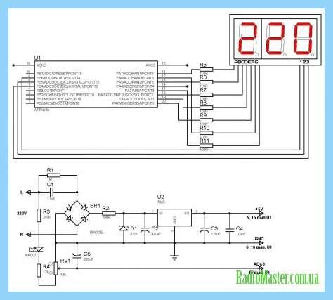 на 220 вольт дома схеме