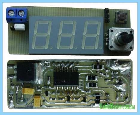 Термометр на atmega8 с жк