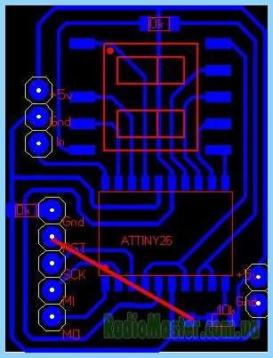 Схему термостата меньше не бывает на attiny2313.