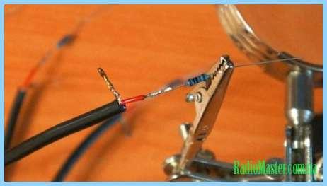 Схема лед куба своими руками. жилой кабеля. припаиваем резистор 270 кОм.