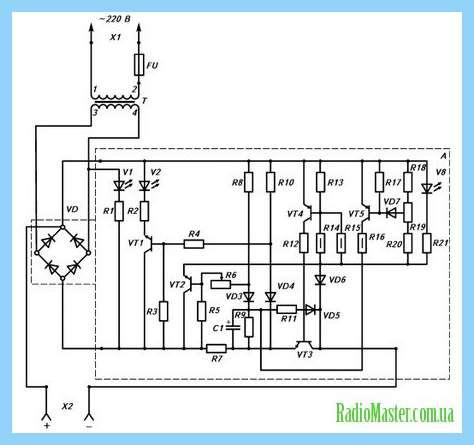 Автоматический регулятор оборотов кулера tl431.  Схема зарядки для шуруповерта BLACK DECKER на 18 вольт. прав для.