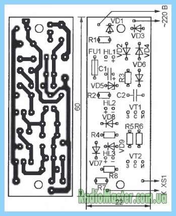 Схема драйвер светодиодной