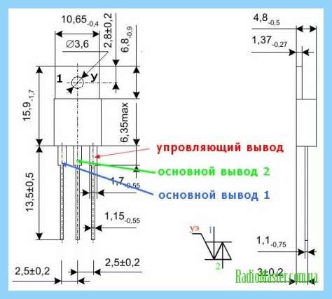 Схема проверки симисторов