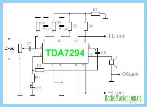 Tda7294 печатная плата