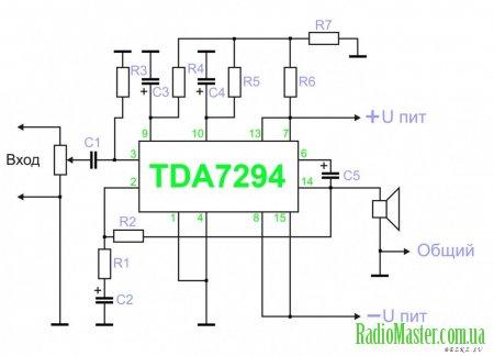 TDA7294 – микросхема усилителя