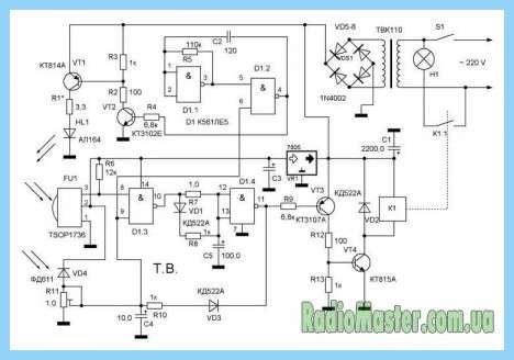 Схема 2-канальный контроллер