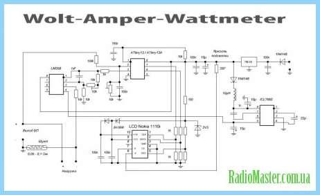 Ампервольтметр на pic16f676